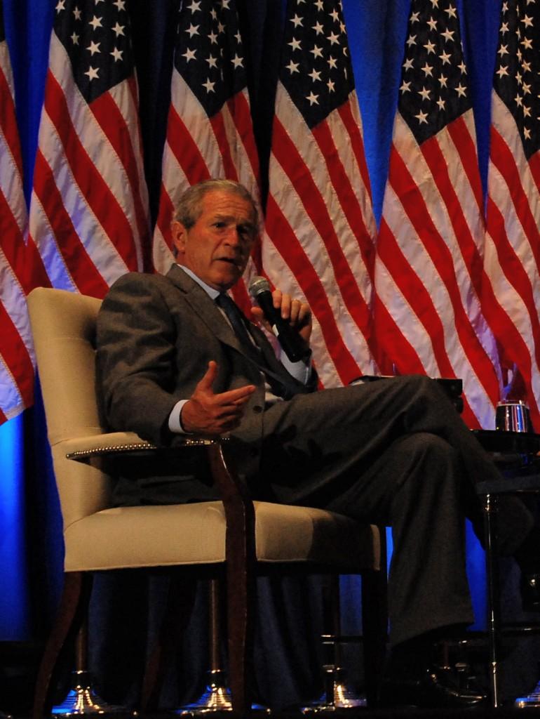 Former President Bush visits San Diego