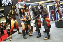 Comic-Con fans with KA comic book and artists from KA by Cirque du Soleil. Photo: Getty Images