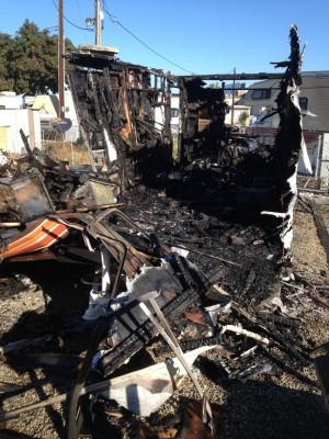 Fire Destroys Trailer Home