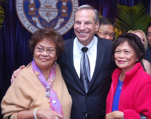 San Diego Mayor Filner's Inaugural Tour Stops At Mira Mesa High School
