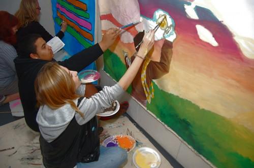 Community mural for sandy hook elementary for Art miles mural project