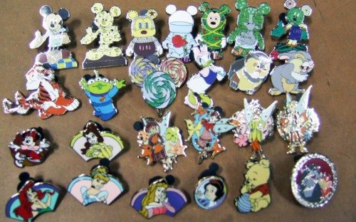 Counterfeit Disney pins.