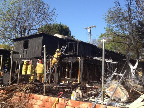 Fire Destroys La Mesa Home
