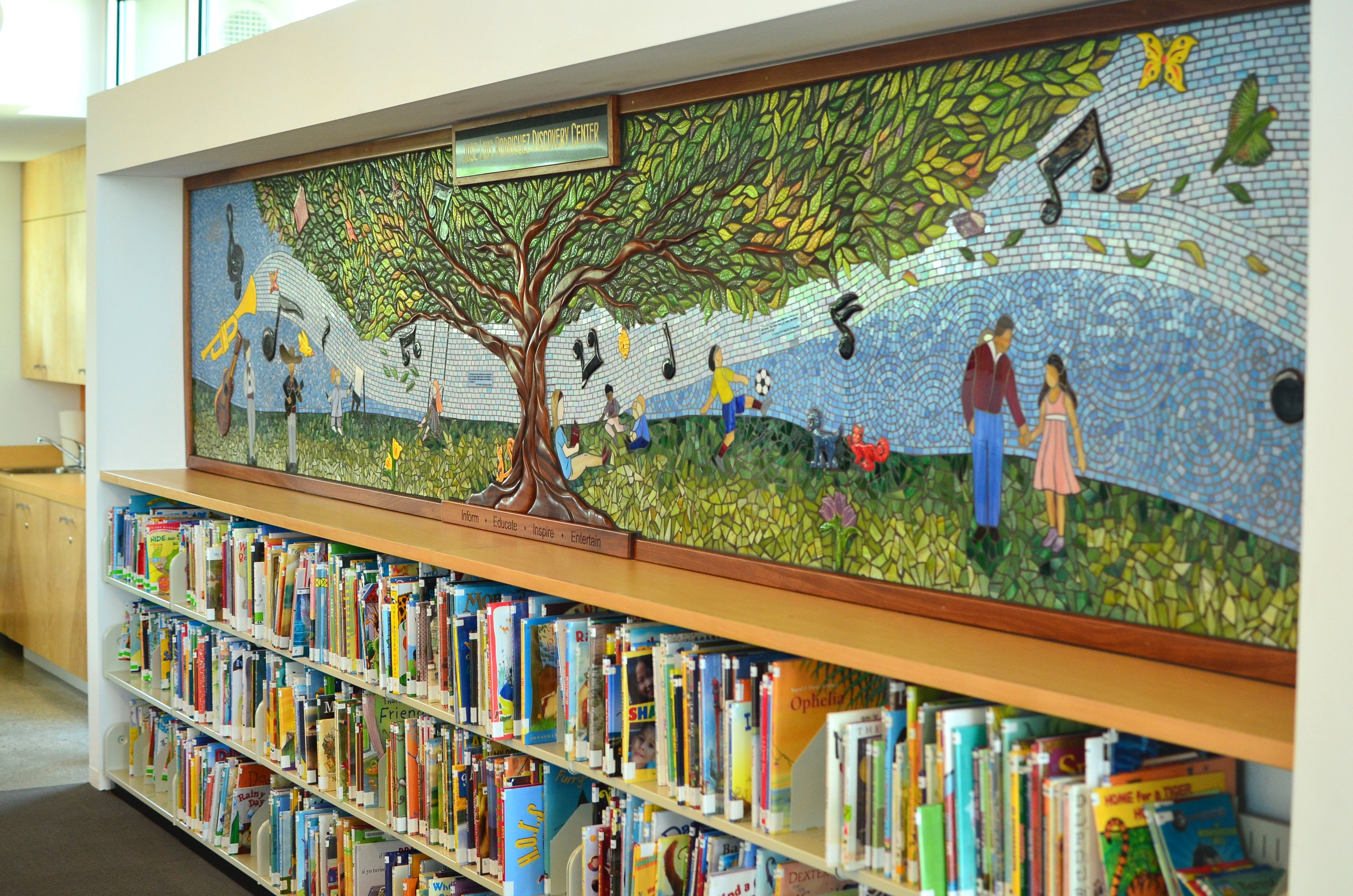 Community mural kicks off teen summer reading program for Community mural