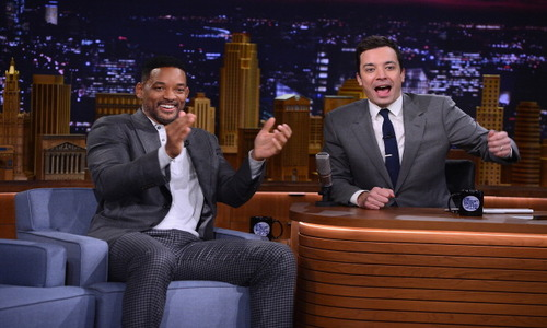 Actor Will Smith was THE TONIGHT SHOW STARRING JIMMY FALLON first celebrity guest when he debut on NBC on February 17. (Photo Courtesy of NBC/Comcast Universal)