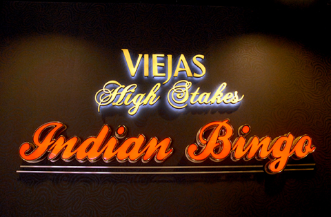 The new Viejas Bingo Hall opened April 4, 2014 at Viejas Outlets, directly across the street from Viejas Casino east of San Diego. Photo: Business Wire