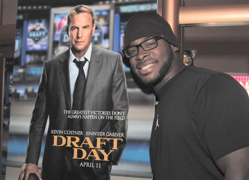 San Diego Chargers Inside Linebacker Donald Butler on the Red Carpet of Draft Day. Photo: Gina Yarbrough