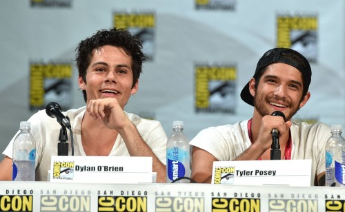 "Dylan O'Brien, left, and Tyler Posey attend the ""Teen Wolf"" panel at Comic-Con International on Thursday, July 24, 2014, in San Diego. (Photo: John Shearer/Invision /MTV/AP Images)"