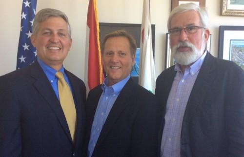 From left, Supervisor Dave Roberts, Mark Ochenduszko and Del Mar City Councilman Don Mosier. Courtesy photo