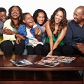 Pictured: Stephanie (Tia Mowry-Hardrict), Maggie (Sheryl Lee Ralph), Charlie (Michael Boatman), Gabrielle (Sydney Park), James (Tylen Jacob Williams), Aaron (Damarr Calhoun) in INSTANT MOM on NickMom.