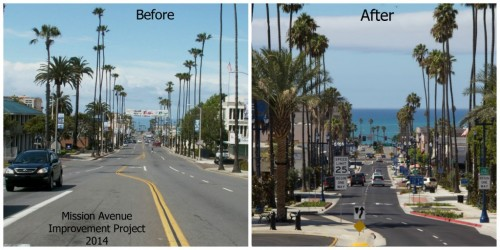 Oceanside Reconstructs New Reverse Angle Parking