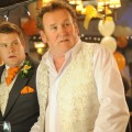 (L-R) James Corden and Colm Meaney. Photo: Liam Daniel