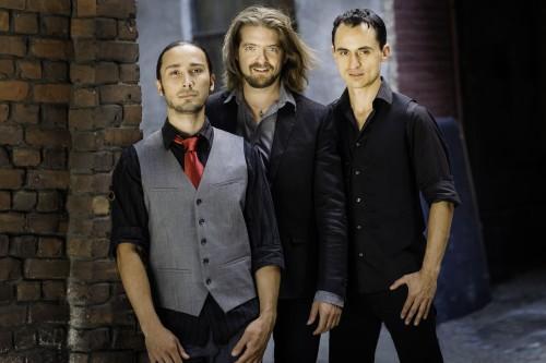 L-R: Bassist Brad Barrett, Flamenco Guitarist Juanito Pascual, and Percussionist/Drummer Tupac Mantilla are the New Flamenco Trio.