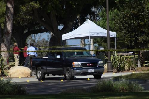 The victim's truck