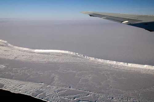Antarctica's Brunt Ice Shelf photographed in October 2011 from NASA's DC-8 research aircraft during an Operation IceBridge flight. Credit: Michael Studinger/NASA.