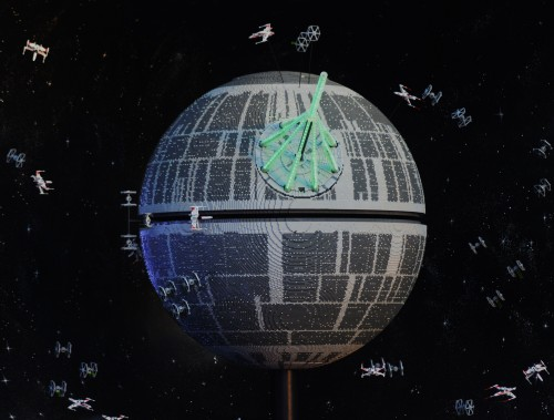 LEGO Star Wars Miniland Death Star Model Display. Photo: Gina Yarbrough/San Diego County News