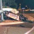 An Escondido man died when his vehicled struck a concrete Courtesy photo: Escondido Police Department
