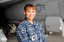Navy Airman Victoria Starks. Photo courtesy of Navy Office of Community Outreach Public Affairs