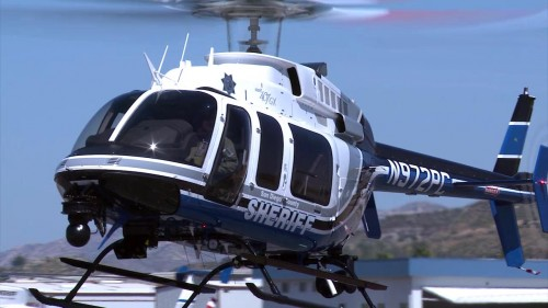 The Sheriff's Department's new ASTREA (Aerial Support to Regional Enforcement Agencies) $4.8 million Bell 407GX aircraft. Photo: Sheriff's Dept.