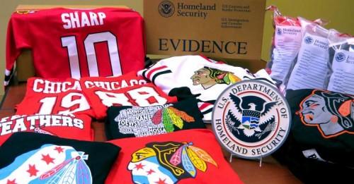 Feds Seize Counterfeit NHL, Chicago Blackhawks Merchandise