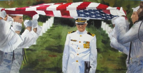 Flag of the Fallen Brother, watercolor by Ally Benbrook
