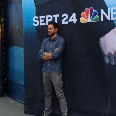 Zachary Levi outside the VSL Produced NBC Heroes Reborn Experience at Comic Con in San Diego. Photos: Devin J. Dilmore and Christina Belle (V Squared Labs).