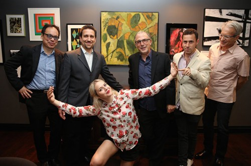 From left: David Lai, Co-President, Park Avenue Artists; Glen Barros, President and Chief Executive Officer, Concord Music Group; Kate Davis;  Mark Wexler, Chief Operating Officer, Concord Label Group; Ross Michaels, Co-President, Park Avenue Artists; Mike Wilpizeski, VP of Publicity, Concord Label Group Photo by Kurt Williamson