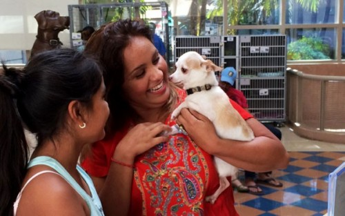 Paola Perez is reunited with her beloved dog,