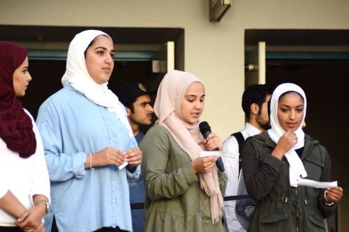 SDSU Students Rally Against Islamophobia