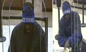 Bank photo of suspected bank robber.