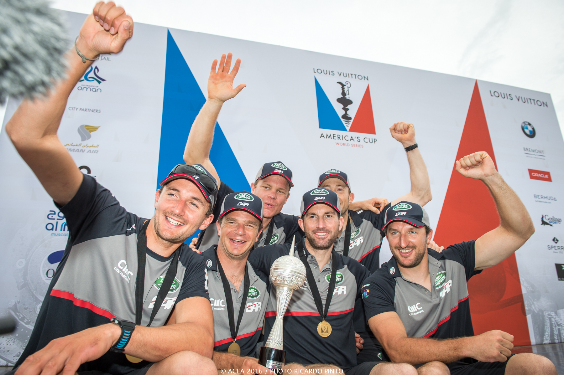 28/02/16 - Muscat (OMN) - 35th America's Cup Bermuda 2017 - Louis Vuitton America's Cup World Series Oman - Racing Day 2 - Prize Giving Ceremony