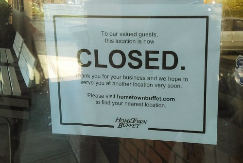 Hometown Buffet Closes San Diego County Locations