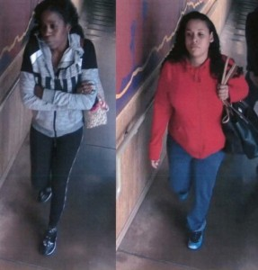 Surveillance photos of the female suspects.