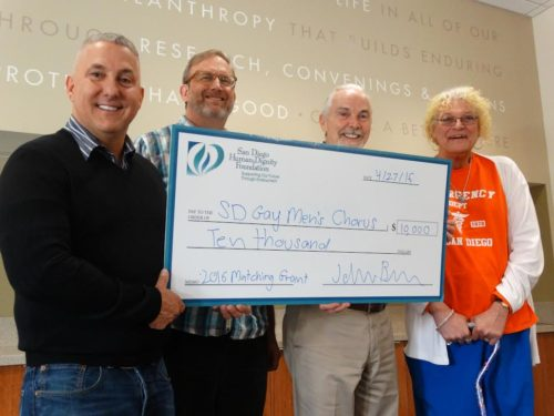 San Diego Gay Men's Chorus Receives $10,000 Matching Grant