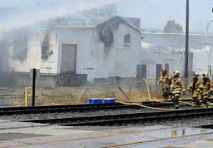 Fire Destroys Abandoned Commercial Building