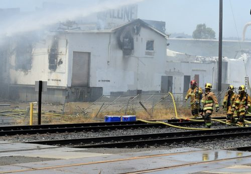Fire Destroys Abandoned Commercial Building