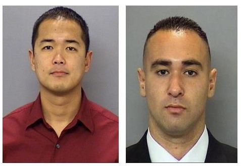 From left, San Diego Police Officers  Jonathan Deguzman and Officer Wade Irwin
