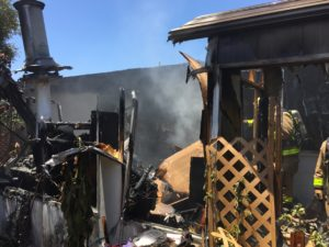 Residential Structure Fire Displace Family