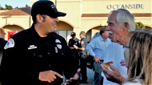 Oceanside Residents Gather To Thank Police Department For Service