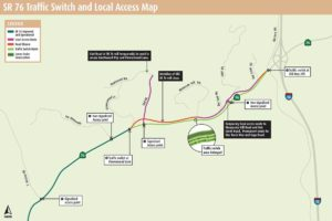 Traffic Switch Planned At State Route 76 From Flowerwood Lane To Old Highway 395