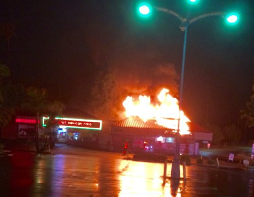 Fire Destroys Liquor Store In La Mesa