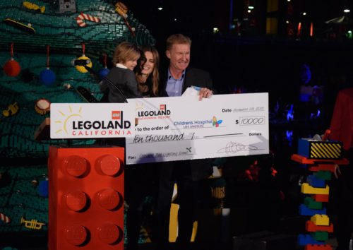 Actress Stana Katic Lights Lego Christmas Tree At Legoland California Resort