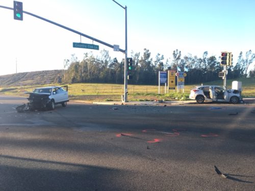 Two People Seriously Injured In Escondido Vehicle Collision