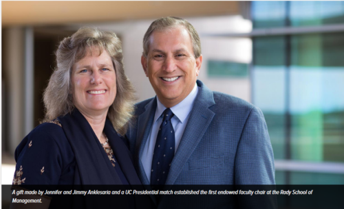 Supply Chain Guru Jimmy Anklesaria Funds Rady School's First Endowed Presidential Chair