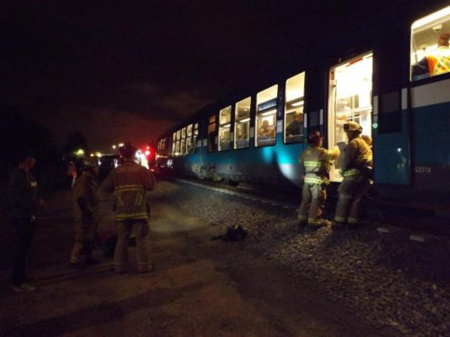 First Responders Participate In Sprinter Drill Along Railway