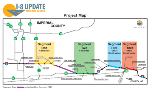 I-8 Construction To Begin Between Ogilby Road And State Route 186