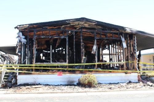 Fire Destroys San Marcos Mobile Home