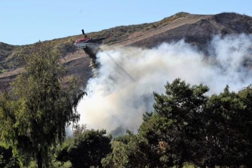 Firefighters Battle Brush Fire Near Camp Pendleton, Oceanside Area