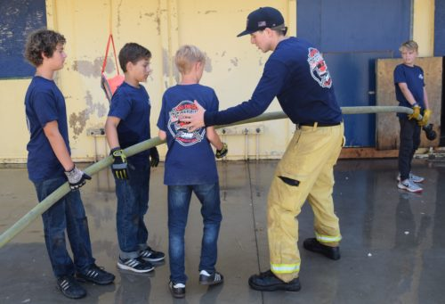 Youths Participate In First San Diego Fire-Rescue Junior Firefighter Camp