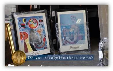 DA Releases Photos Of Stolen Property To Help Locate Additional Victims